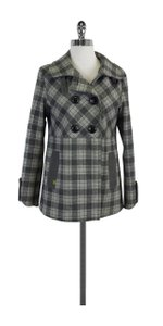 Soia & Kyo Plaid Wool Grey & Blue Jacket