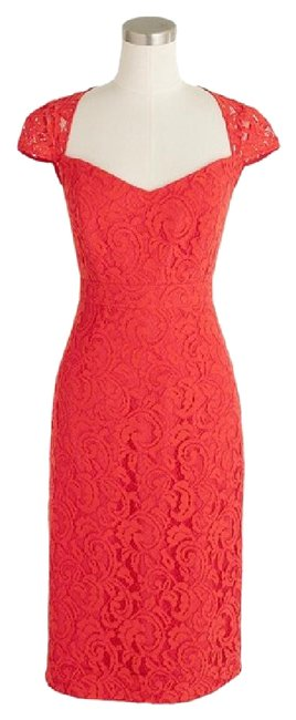 Item - Red Tinsley In Leavers Lace Short Cocktail Dress Size 0 (XS)