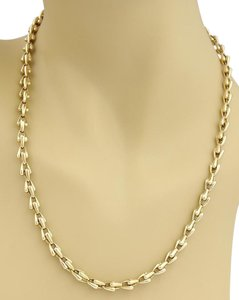 Cartier Cartier 5.5mm Fancy Link Chain Necklace in Solid 18k Yellow Gold