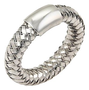Roberto Coin Roberto Coin Diamonds Basket Woven Band Ring in 18k White Gold