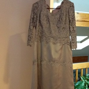 Grayish Blue Magnificent Mother Of The Bride Dress. Elegant And Important. Dress