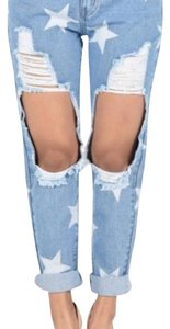 American bazi Boyfriend Cut Jeans-Distressed
