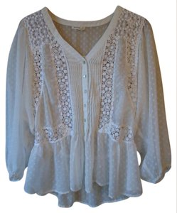 Anthropologie Lace White Meadow Rue Top