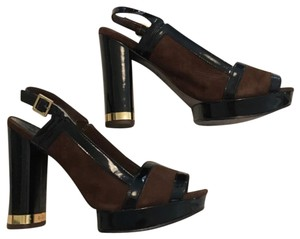 Tory Burch black and brown Platforms