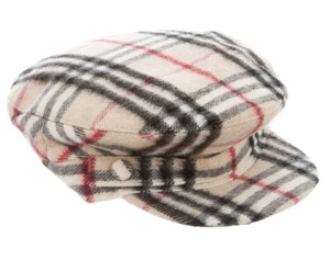Burberry Beige, red multicolor Burberry Nova Check newsboy hat L