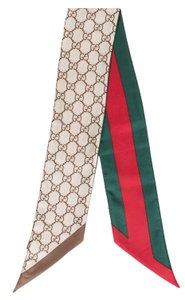 Gucci Beige, red, multicolor Gucci Silk GG Web silk twilly carf