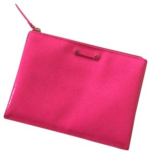 Kate Spade Large Pouch Pink Sapphire Clutch