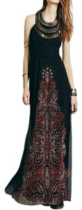 Maxi Dress by Free People Maxi Evening Gown Embroidered Embellished