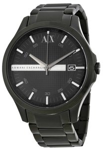 A|X Armani Exchange Armani Exchange Black Ion Stainless Steel 46MM Mens Watch AX2104