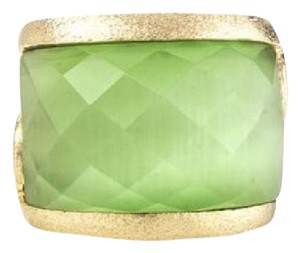 Rivka Friedman Lime cat's eye west scroll ring