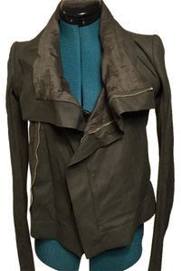Rick Owens Olive Leather Jacket
