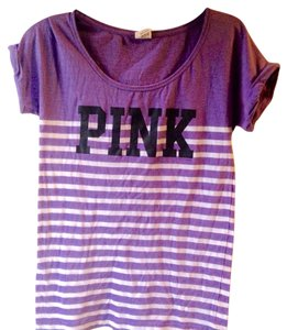 PINK T Shirt Purple and White
