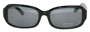 Anne Klein Retail Model AKNY Anne Klein New-with-Sticker Black Silver Sunglasses