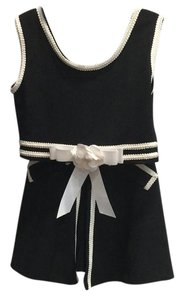 Cache short dress Black/White 2 Piece Top And Skort Set on Tradesy