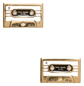 Kate Spade kate spade new york Jazz Things Up Cassette Stud Earrings 12k Gold
