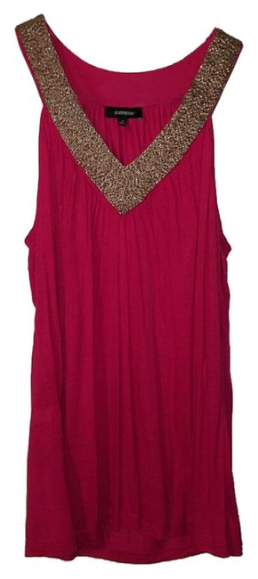 Item - Pink with Silver Sequence Top