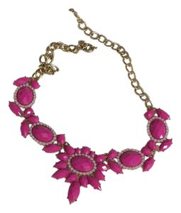 J.Crew Pink Jeweled Necklace