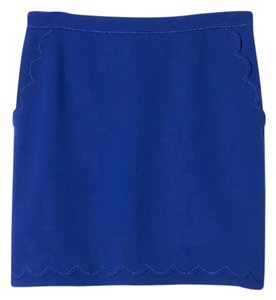 Banana Republic Blue Scalloped Mini Mini Skirt