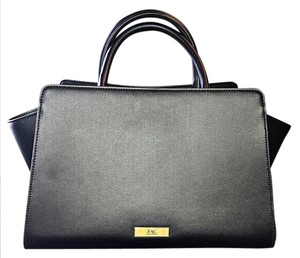 Zac Posen Leather Structured Satchel in Black