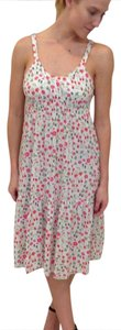 Theory short dress White flowered on Tradesy