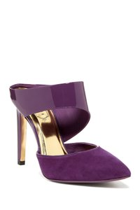 Ted Baker Suede Patent Heels Purple Pumps