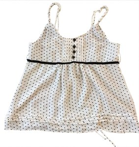Xhilaration Top white with black polka dots