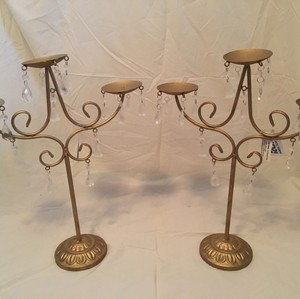 Gold Candelabra Pair