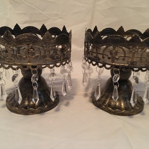 Vintage Gild Candle Holders