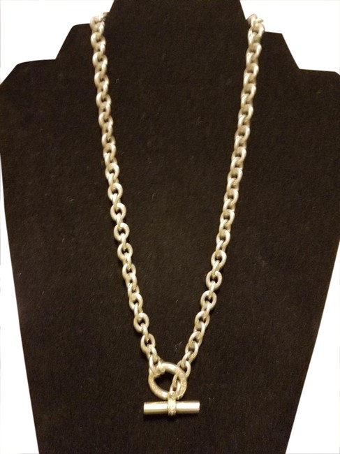 Item - Sterling Silver & Toggle Necklace