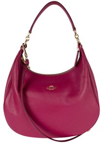 Coach Leather Pink Red Hobo Bag