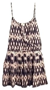 J.Crew short dress navy blue and ivory on Tradesy
