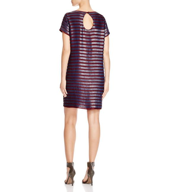 French Connection Sequin Striped Shift Dress Image 1