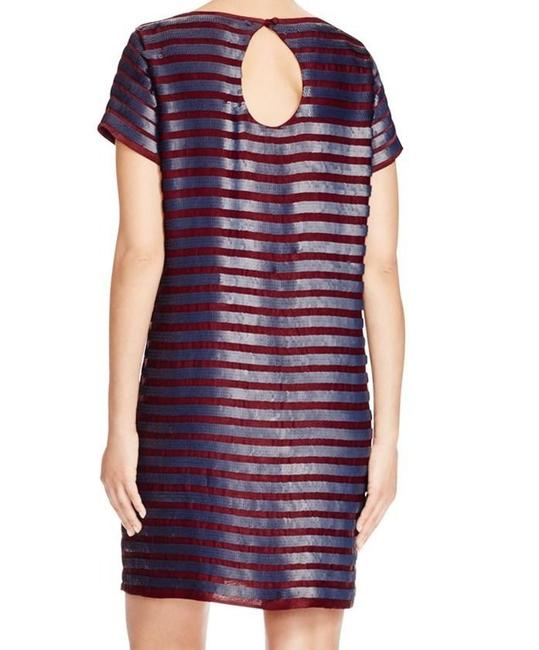 French Connection Sequin Striped Shift Dress Image 2