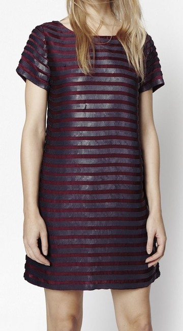 French Connection Sequin Striped Shift Dress Image 3
