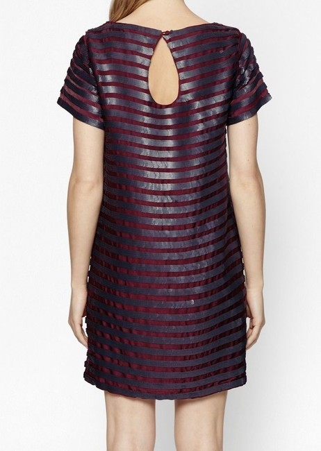 French Connection Sequin Striped Shift Dress Image 4