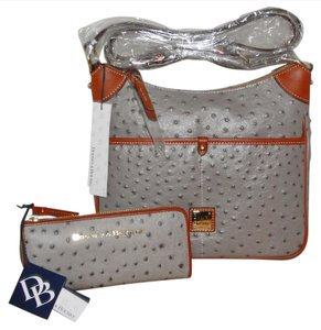 Dooney & Bourke Kimberly Ostrich Emb Leather & Cross Body Bag