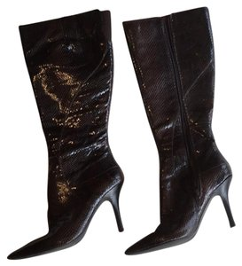 Nine West chocolate brown and black Boots