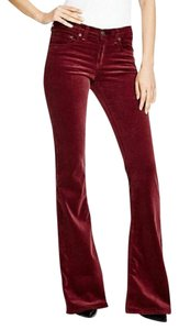 Rag & Bone Wide Leg Pants Bordeaux