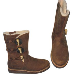 UGG Australia Ugg Kaya Water Resistant New Leather Chocolate Brown Boots