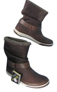 Ecco Gore-tex Leather Slouch Waterproof Cocoa Brown Boots