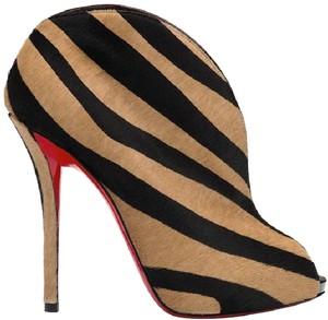 Christian Louboutin Ankle Chester Fille Pony Beige/Black Boots