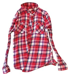 Mossimo Supply Co. Button Down Shirt plaid
