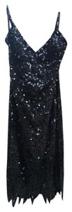 Betsey Johnson Sequin Flapper Sexy Strappy Low Dress