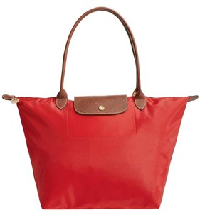 Longchamp Tote in Burnt Red