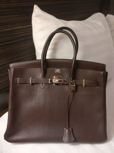 Hermès 35 35 Togo Togo Satchel in Brown