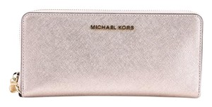 Michael Kors * Michael Kors Jet Set Travel Metallic Leather Continental Wallet