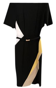 White House | Black Market Sheath Assymetrical Color-blocking Dress