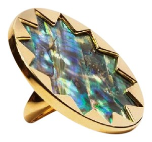 House of Harlow 1960 House of Harlow 1960 Adjustable (size7-9) Gold Starburst Abalone Ring