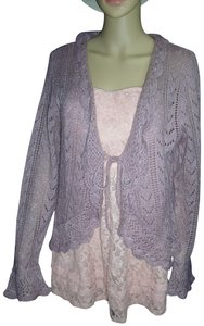 Uniform John Paul Richard Tie Front Sparkly Ruffled Sweater Cardigan