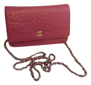 Chanel Woc Woc Camellia Wallet On Chain Cross Body Bag